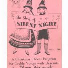 Vintage The Story Of Silent Night by Marie Westervelt Christmas Choral Elkan Vogel