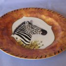 Chase American Portraits Zebra Plate From The Mammals Collection