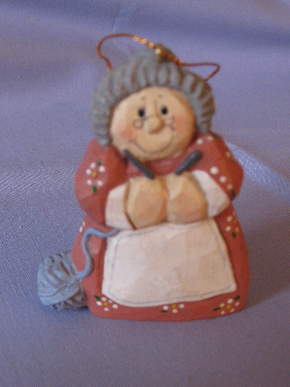 Get Knitting Grandma : Perjinkities eddie walker knitting grandma ornament with