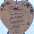 Abbey Press Great Grandma With Love Heart Shaped Wall Plaque Ceramic