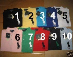Men's Ralph Lauren Big Pony Polo Shirts NEW Lot of 10 size medium