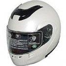 DOT Full Face Helmets Pearl White Modular Motorbike Helmets