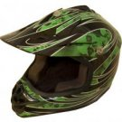 DOT ATV Dirt Bike MX Kids Motorbike Helmets GreenG