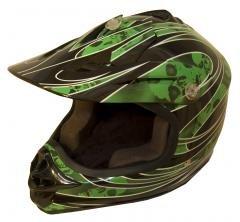 DOT ATV Dirt Bike MX Kids Motorbike Helmets GreenG