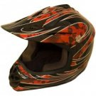 DOT ATV Dirt Bike MX Kids Motorbike Helmets RedG