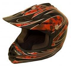 DOT ATV Dirt Bike MX Kids Motorbike Helmets RedG