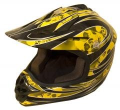 DOT ATV Dirt Bike MX Kids Motorbike Helmets YellowG