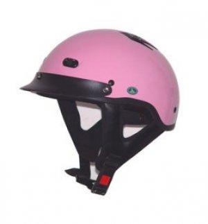 DOT Vented Pink Half Helmet Motorcycle BEANIE Helmets