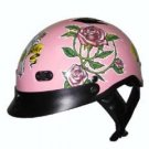 Pink Ladies Motorcycle DOT Motorbike Helmet