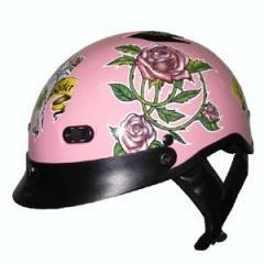 Pink Ladies Motorcycle DOT Motorbike Helmet