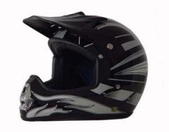 DOT ATV Dirt Bike MX Black Graphic Motocross Helmet
