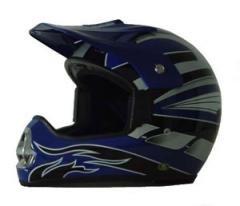 DOT ATV Dirt Bike MX Blue Motocross Helmet