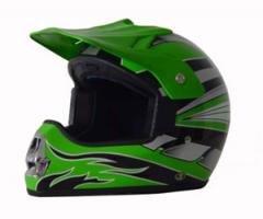 DOT ATV Dirt Bike MX Green Motocross Helmet
