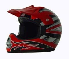 DOT ATV Dirt Bike MX Red Motocross Helmet