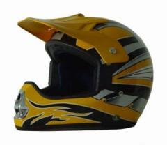 DOT ATV Dirt Bike MX Yellow Motocross Helmet
