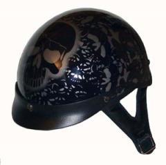 DOT Black Boneyard Half Helmet Motorcycle BEANIE Helmets