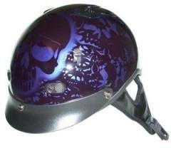 DOT Purple Boneyard Half Helmet Motorcycle BEANIE Helmets
