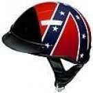 DOT Rebel Flag Shorty Helmet Motorcycle