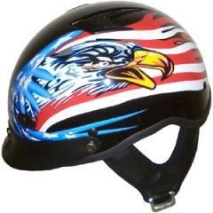 DOT Vented American Hawk Motorbike Helmet BEANIE Helmets