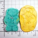 Teddy Bear w/ Flowers - Silicone Mold Soap Candy Plaster Cake Resin