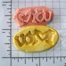 I Love You - Word / Letters- Silicone Mold Soap Candy Plaster Cake Resin