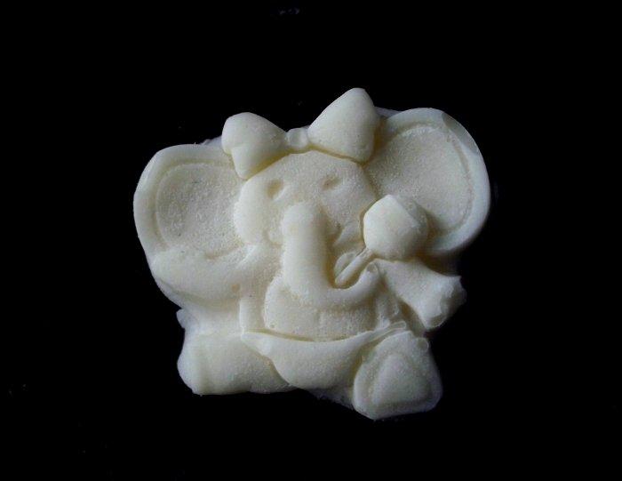 Baby Elephant w/Rattle  -  Silicone Mold