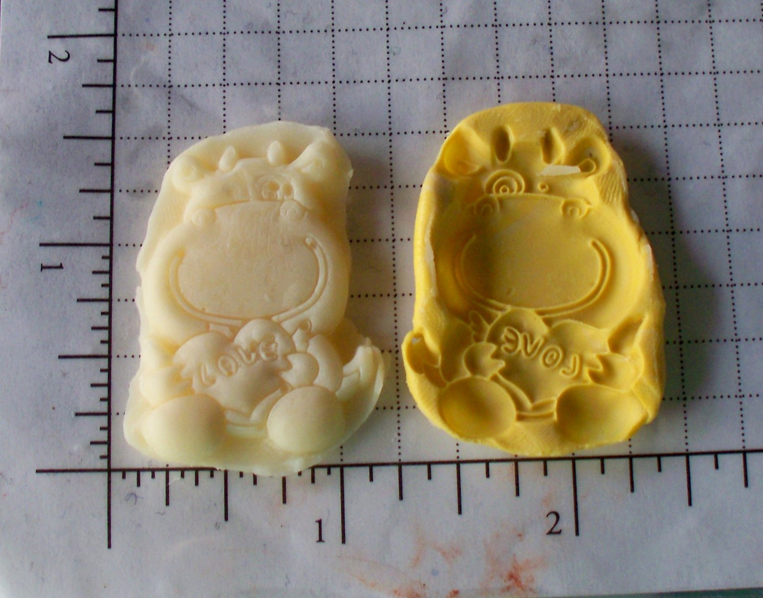 Cow hugging heart -Cake Candy Cookies Crafts-  Silicone Mold