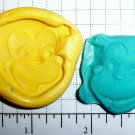 Monkey - Silicone Mold- Kids Candy Cake toppers Clay  Cookies Crafts