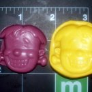 Monster Frankenstein- Silicone Mold- Halloween Kids Candy Cake toppers Crayons Clay  Cookies Crafts