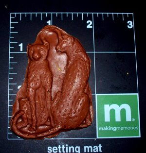 Leopards cat Cheetahs -  Silicone Mold Candy Plaster Cake Resin
