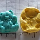 Teddy Bear - Flexible push Silicone Mold Crafts Cake Candy Cookies