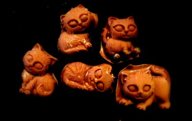 Kittens Cats - Candy Cake Crafts Cookies- Flexible Silicone Mold