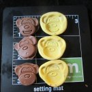 Monket Set- Silicone Mold- Kids Cake Candy Cookies Fondant Crafts