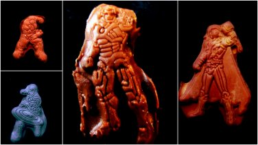 Superhero Set av 2-   Silicone Mold-  Cake Candy Cookies Fondant Crafts
