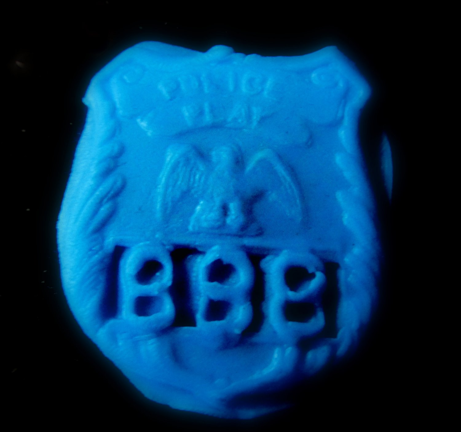 Badge Police Fire Rescue-   Silicone Mold-  Cake Candy Cookies Fondant Crafts