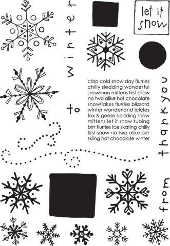 Let it Snow - Simply Chic Stamps by Provocraft