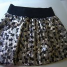 gold black metallic skirt by Lily White ribbed stretch waistband size small