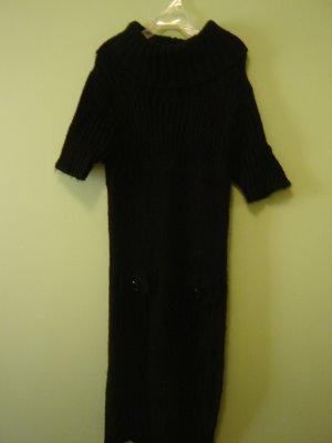black sweater dress size small Charlotte Russe short sleeve knit acrylic wool blend