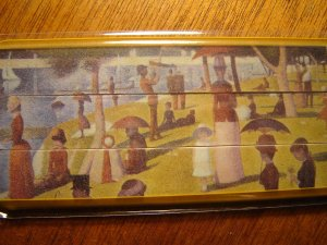 nail files by masterpiece A Sunday on La Grande Jatte artwork Georges Seurat pkg of 3 emery boards