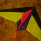 "bright neon Premier kite yellow pink purple 54"" span 12 ft tail with streamers nylon"