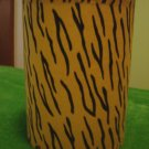 tiger stripe fabric lampshade for small lamp 5 inch diameter 7 inches high animal print