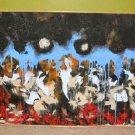 Mixed Media NYC Fire Smoke Abstract Art Nyugen E. Smith