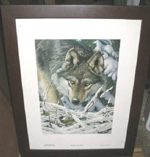 Tom Hirata Heard Not Seen Wolf Framed Poster Art Print Singed Limited Edition
