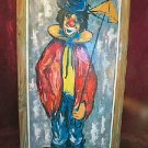 1904 Antique Oil Painting Canvas Clown Signed Grifoll Spain Framed