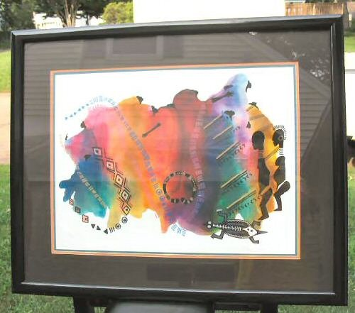 Large Limited Print Framed African Art Signed Framed Ty