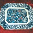 Rare Vintage Japanese Plate Royal Blue & White