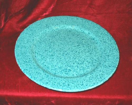 "Signature Stoneware Desert Salad Plate Ceramic Green 8"""""