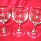 3 New Clear White Red  Wine Glasses  Goblets