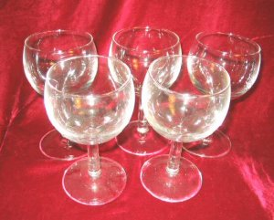 5 New Clear White Red  Wine Glasses Goblets