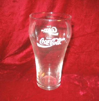 Coca Cola Coke Tulip Clear Bar Pine Glass 16 oz